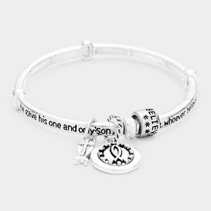 John 3:16 Stretch Charm Bangle